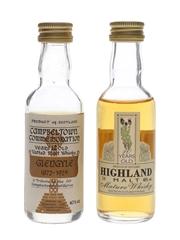 Glengyle & Highland Malt 12 & 10 Year Old 2 x 5cl / 40%