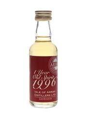 Arran 1996 1 Year Old Spirit  5cl / 61.5%