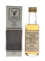 Banff 1974 Connoisseurs Choice Bottled 1990s - Gordon & MacPhail 5cl / 40%