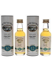 Bowmore 10 & 12 Year Old Bottled 1990s 2 x 5cl