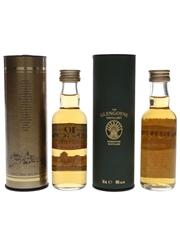 Glengoyne 10 Year Old Bottled 1990s & 2000s 2 x 5cl / 40%