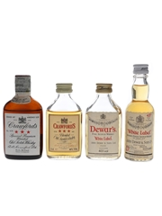 Crawford's & Dewar's Bottled 1980s-1990s 4 x 4.7cl-5cl