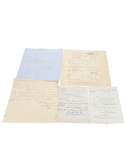 Assorted Correspondence & Price Lists, Dated 1822-1903