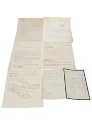 Assorted Correspondence & Price Lists, Dated 1904-1909