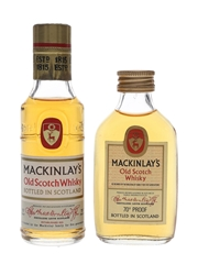 Mackinlay's Old Scotch Whisky Bottled 1960s & 1970s 2 x 5cl / 40%