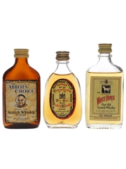 Abbot's Choice, Crawford's & White Horse Bottled 1960s & 1970s 3 x 5cl / 40%