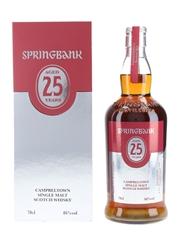 Springbank 25 Year Old Bottled 2021 70cl / 46%