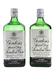 Gordon's Special Dry London Gin Bottled 1970s 2 x 75.7cl / 40%