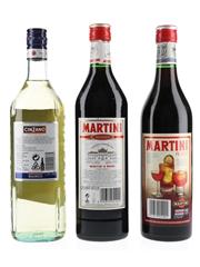 Cinzano Bianco & Martini Rosso  3 x 75cl