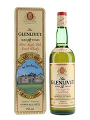 Glenlivet 12 Year Old Bottled 1980s - Classic Golf Courses St Andrews 75cl / 43%