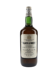 Buchanan's Black & White Spring Cap Bottled 1960s 113cl / 43.4%