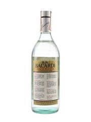 Bacardi Carta Blanca Bottled 1970s - Spain 100cl / 40%