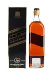 Johnnie Walker Black Label 12 Year Old Bottled 1980s - Bahrain International Airport 100cl / 43%