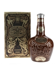 Royal Salute 21 Year Old Bottled 1980s - Brown Spode Ceramic Decanter 75cl / 40%