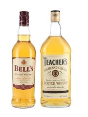 Bell's 8 Year Old & Teacher's Highland Cream  70cl & 100cl / 40%