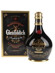 Glenfiddich 18 Year Old Ancient Reserve Bottled 1990s - Black Ceramic Decanter 70cl / 43%