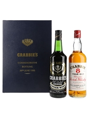 Crabbie's Commemorative Bottling 30th June 1993 Crabbie 8 Year Old & Crabbie's Green Ginger Wine 2 x 70cl & 75cl