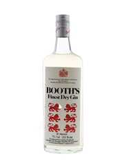 Booth's Finest Dry Gin Bottled 1970s 75.7cl / 40%