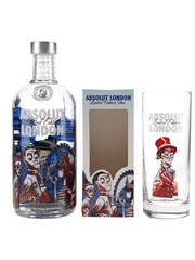 Absolut London Limited Edition With Glass Jamie Hewlett Collaboration 70cl / 40%