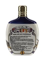 Pusser's Navy Rum Ceramic Hip Flask Bottled 1970s-1980s 20cl / 54.5%