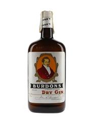 Burdons Dry Gin Bottled 1980s 100cl / 38%