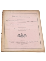 Patents for Inventions Class 21, Casks and Barrels 1889-1892