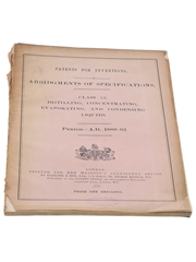 Patents for Inventions Class 32, Distilling, Concentration, Evaporation, and Condensing Liquids, 1889-1892