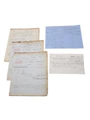 William Jameson Marrowbone Lane Distillery Correspondence & Invoices  Dated 1872-1877