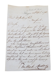 Bulloch Lade & Co. Letter, Dated 1873