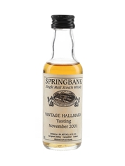 Springbank Vintage Hallmark Tasting