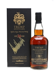 Glendronach 26 Year Old Trump International Golf Links Signed By Donald Trump 70cl / 53.3%