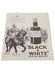 Black & White Scotch Whisky Advertisement The Illustrated London News 1937