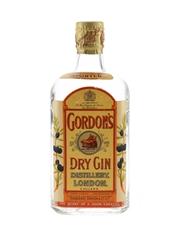 Gordon's Dry Gin Spring Cap Bottled 1950s 37.5cl