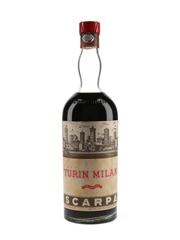 Scarpa Turin Milan Bottled 1950s 100cl / 25%