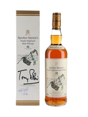 Macallan 10 Year Old Speaker Martin's - Signed By Tony Blair & Michael Martin 70cl / 40%