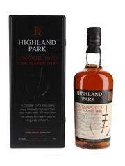 Highland Park 1973 Sherry Cask No. 11151 28 Year Old 70cl / 45.4%