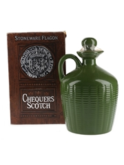 Chequers De Luxe Bottled 1980s Ceramic Decanter 75.7cl / 40%