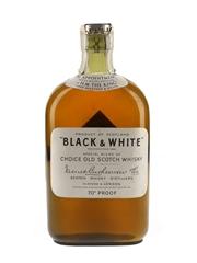 Black & White Spring Cap Bottled 1940s 37.5cl / 40%