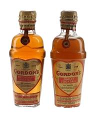 Gordon's Cocktail Shaker Spring Cap Bottled 1940s & 1950s 2 x 5cl