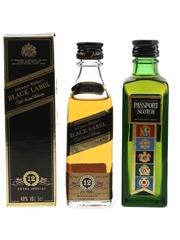 Passport Scotch  & Johnnie Walker Black Label 12 Year Old