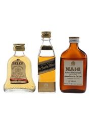 Bell's Extra Special, Haig Gold Label & Johnnie Walker Black Label