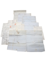 Sandeman & Co. Correspondence, Purchase Receipts, Checks & Invoices, Dated 1844-1904