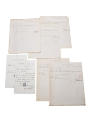 Bristol Distillery Purchase Receipts & Invoices, Dated 1872-1877