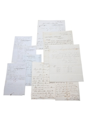 Jamesons & Robertson Correspondence, Purchase Receipts & Invoices, Dated 1849-1860