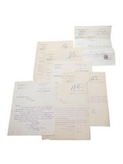 Gonzalez, Byass & Co Correspondence & Purchase Receipts Dated 1899-1909