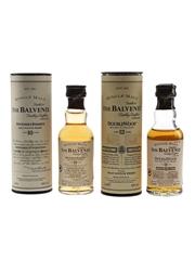 Balvenie 10 & 12 Year Old Bottled 1990s & 2000s 2 x 5cl / 40%