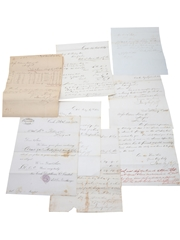Cork Distillery Correspondence, Invoices & Purchase Receipt  Dated 1843-1872