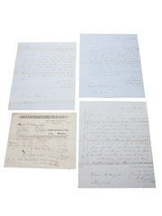 Riverstown Distillery Correspondence, Invoice & Purchase Receipt, Dated 1848-1849
