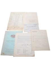 Assorted Correspondence & Price Lists, Dated 1890s