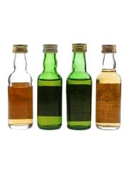 Black Colt, Chequers, MacArthur's & Moncreiffe Bottled 1980s 4 x 5cl / 40%